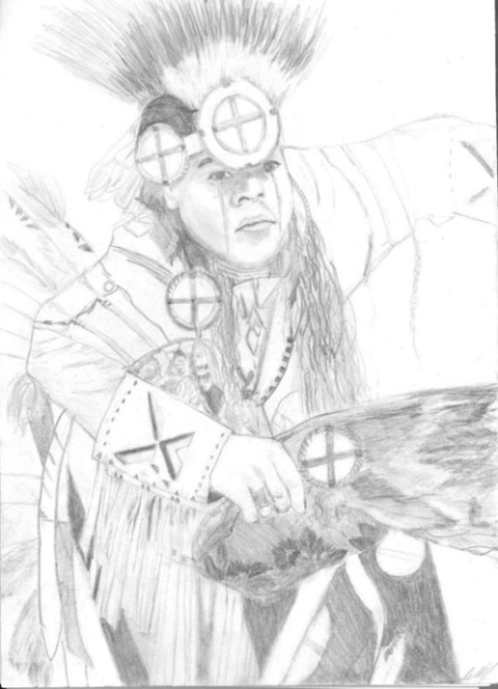 723x1000 Drawing Of Native Pow Wow Dancers Archives