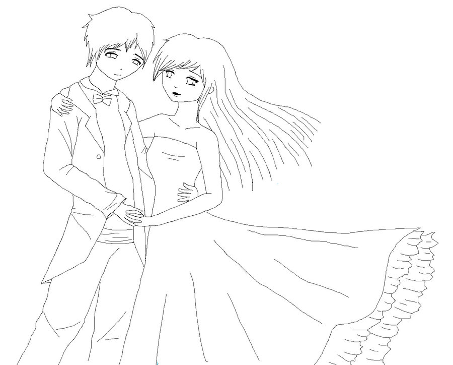 900x724 Couple Dancing Lineart By Immzym123