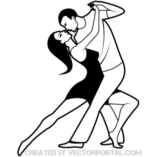 316x316 Dancing Couple Clip Art Image 123freevectors