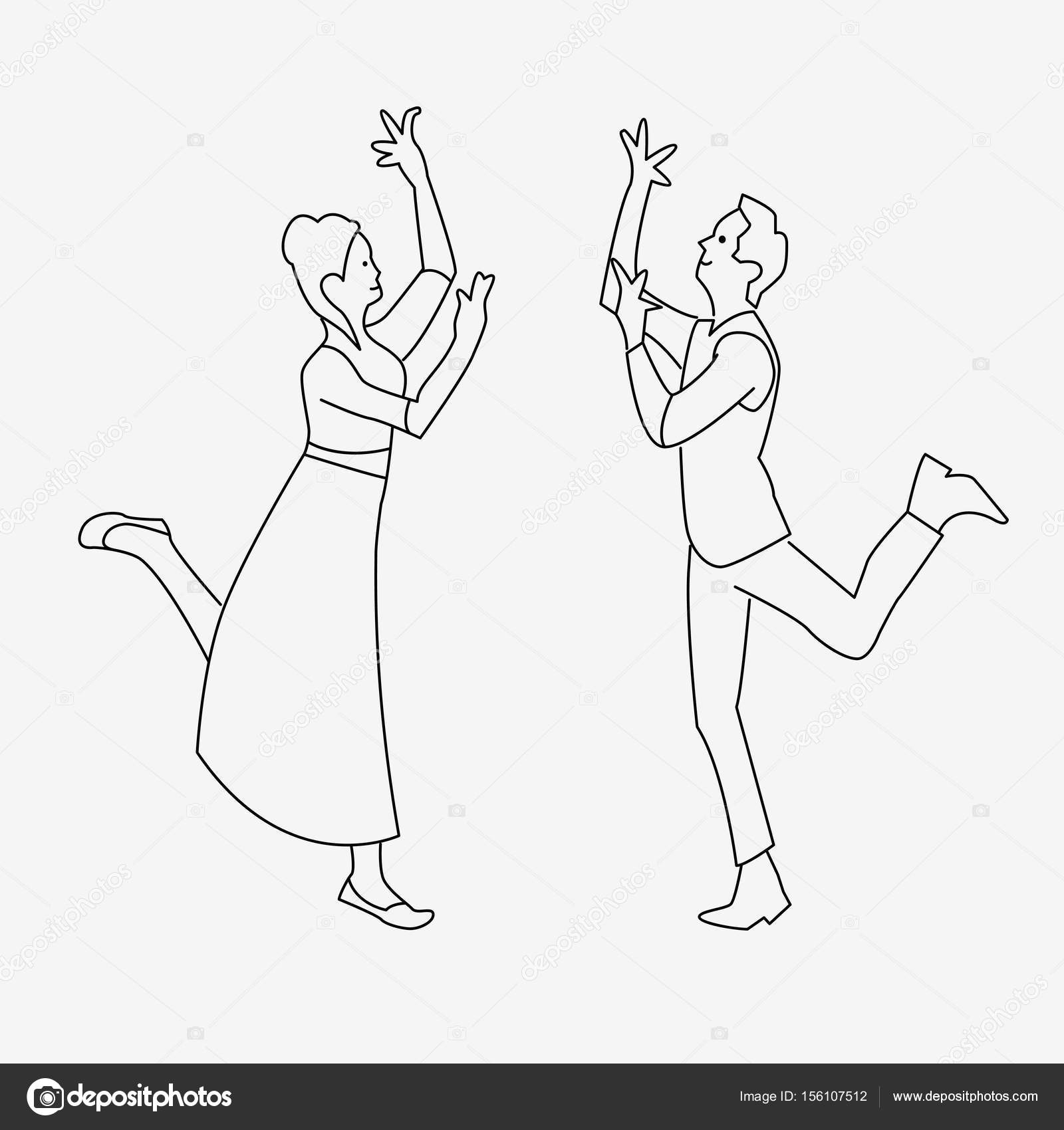 1600x1700 Outline Drawing Of Dancing Couple Stock Vector Hlivnyk.a.gmail