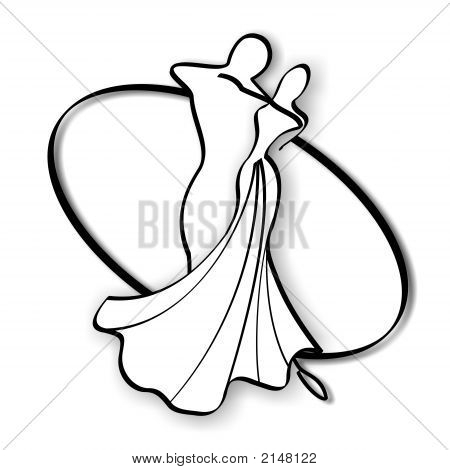 450x470 Ballroom Dancing Couple Images, Illustrations, Vectors