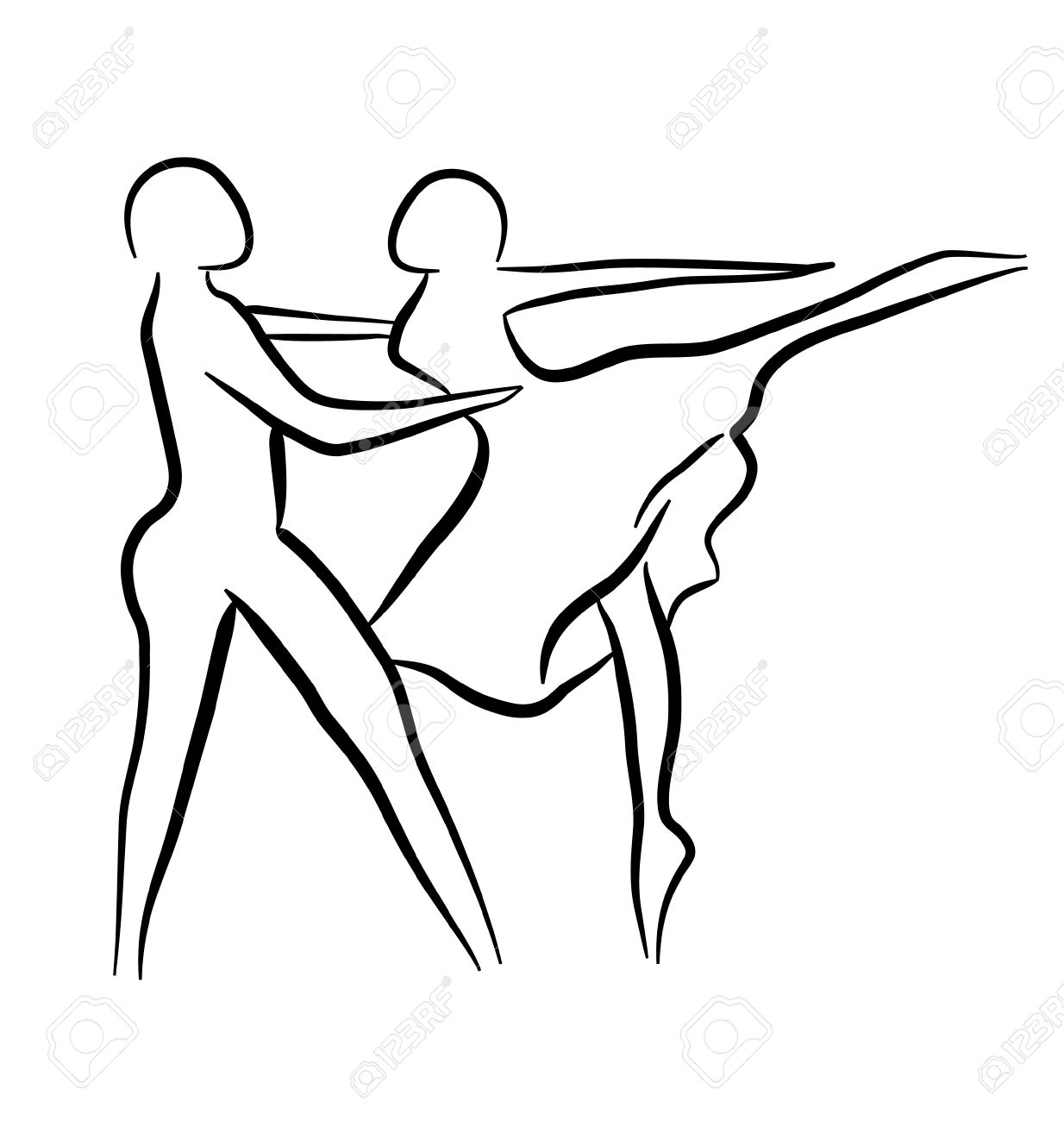 1234x1300 Couple Dancing Sketch Concept Royalty Free Cliparts, Vectors,