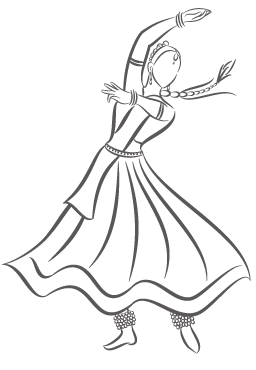 256x370 Kathak Dancer Random Dancers, Sketches And Dancing