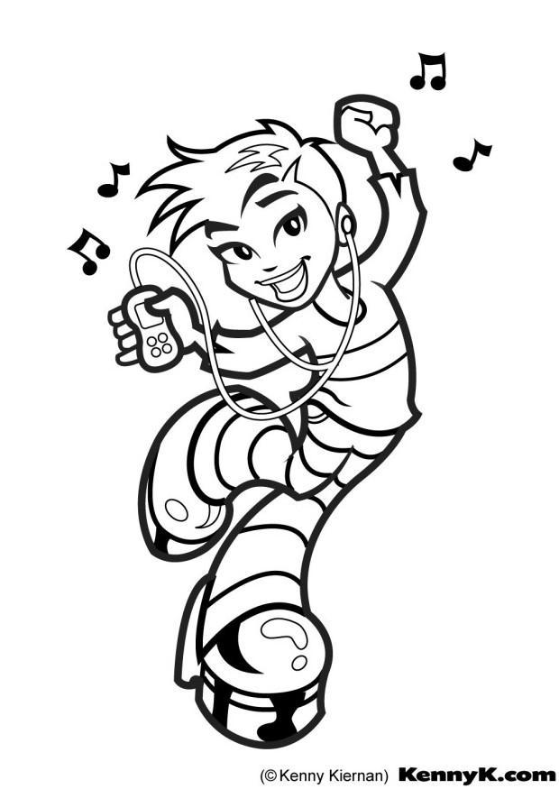 620x875 Coloring Page Dancing Girl