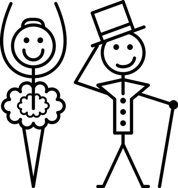 570x600 Stick People Dancing Clipart