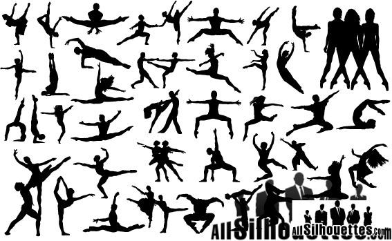 567x349 Vector Dancing People Free Vector In Adobe Illustrator Ai ( Ai
