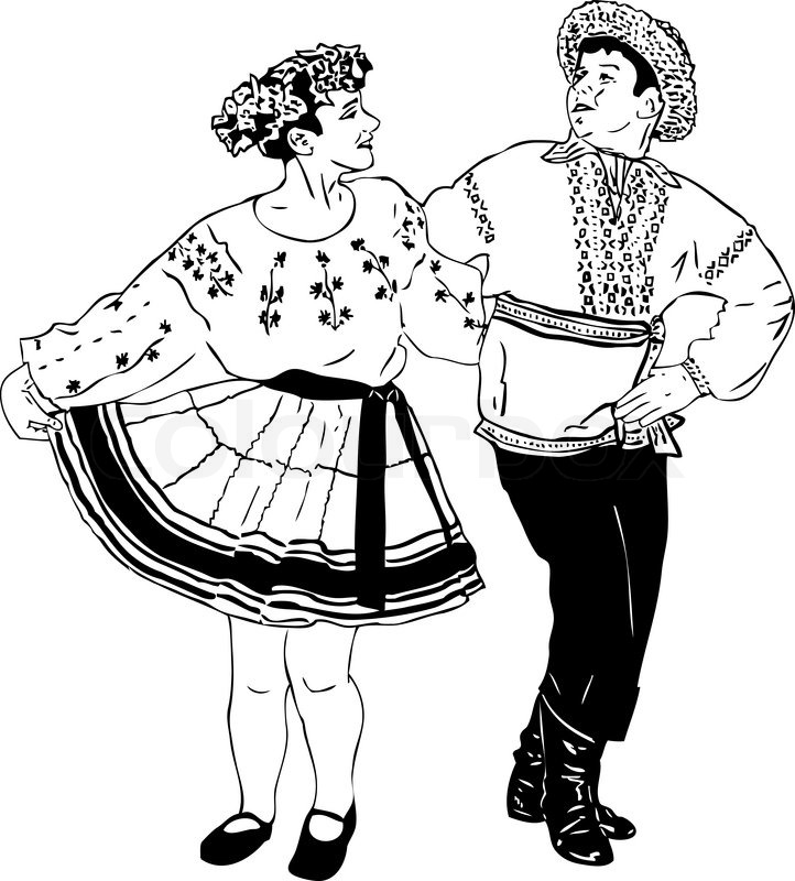 722x800 Black And White Picture Dancing Couple In Traditional Dress