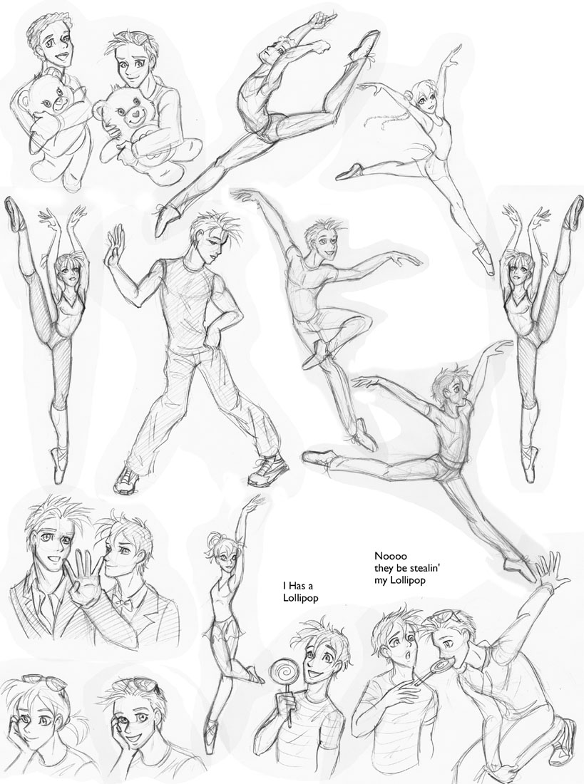 819x1100 Dance Sketches By Insectikette