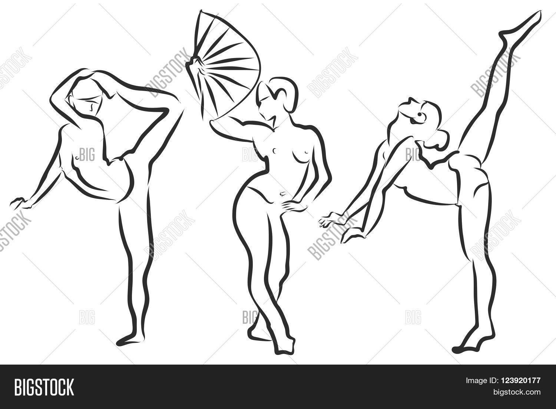 1500x1105 Girl Dancing Drawing, Actress Vector Amp Photo Bigstock