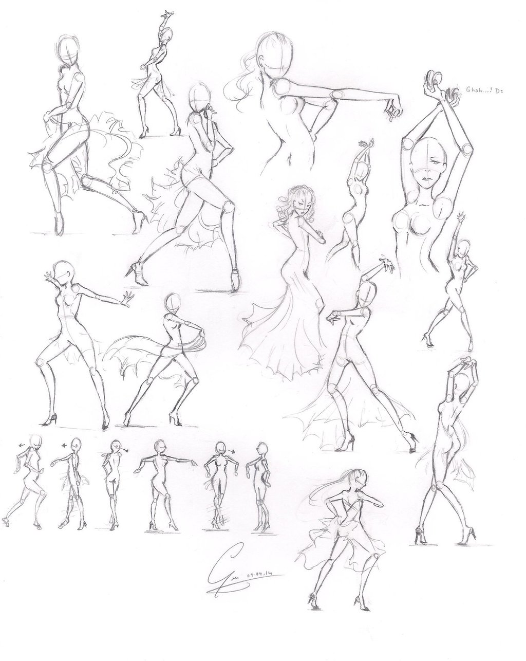 1024x1286 Solo Paso Doble Poses, Practice By Chocotanyuu