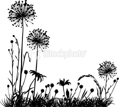 380x342 Summer Meadow With Variable Plants. Lion Silhouette, Dandy And Lions