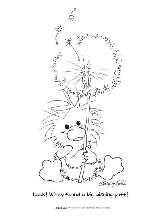 It is a graphic of Influential Dandelion Coloring Pages