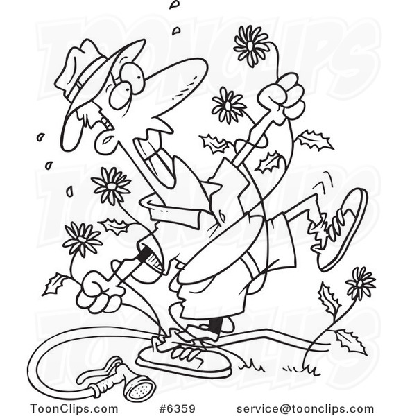 581x600 Cartoon Black And White Line Drawing Of A Mad Guy Pulling
