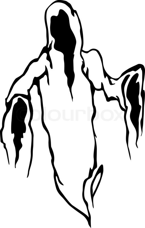 509x800 Danger Ghost Stock Vector Colourbox