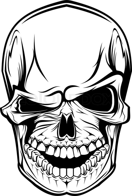 540x800 Danger Skull As A Warning Or Evil Concept Stock Vector Colourbox
