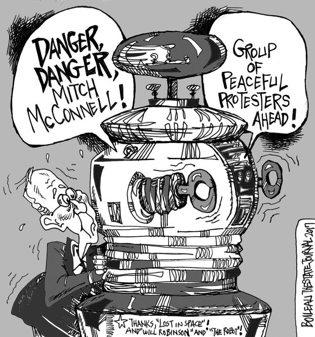 622x666 Cartoon Danger, Danger, Mitch Mcconnell! The State Journal