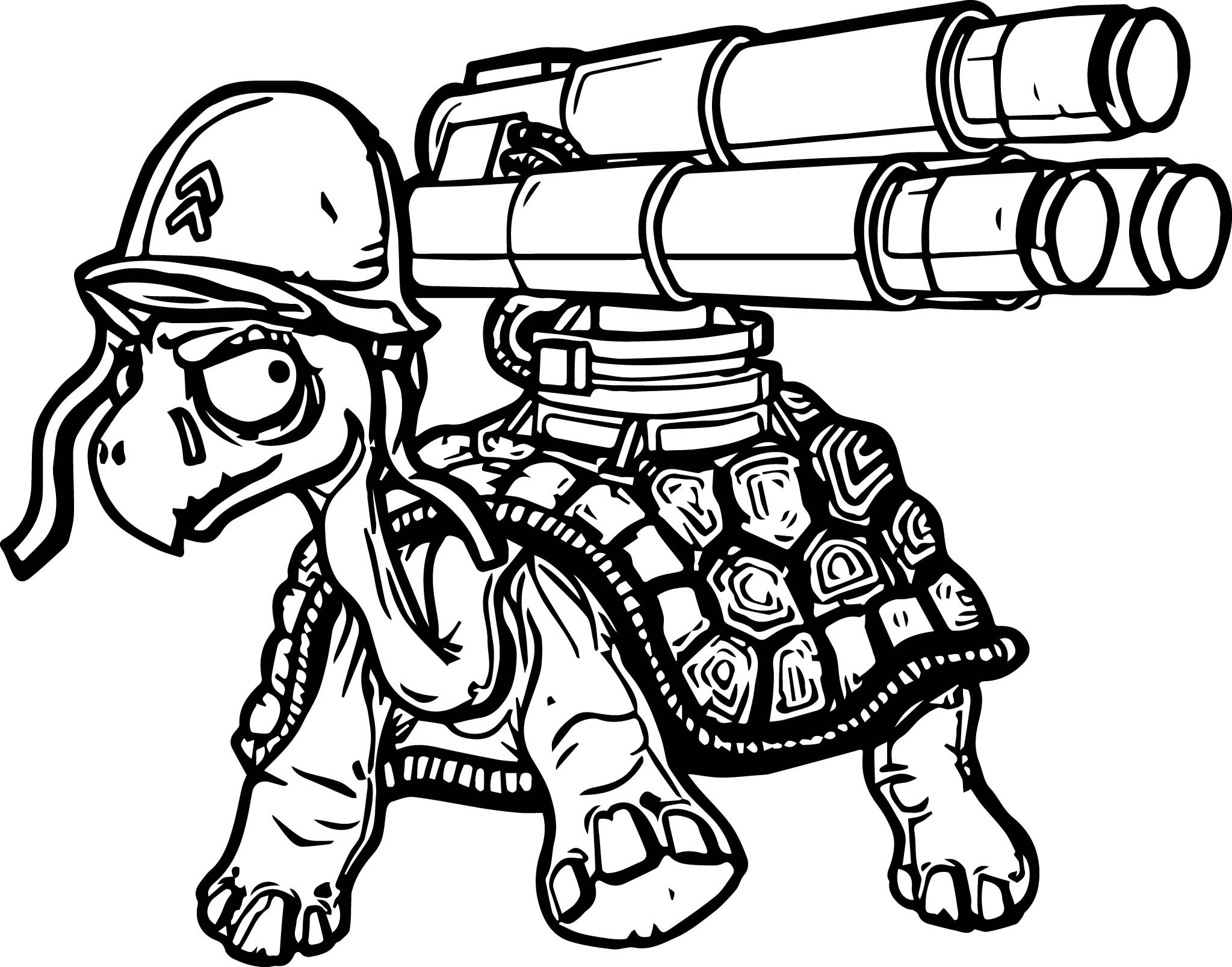 2047x1607 Gun Coloring Pages Beautiful Danger Tortoise Turtle Gun Coloring
