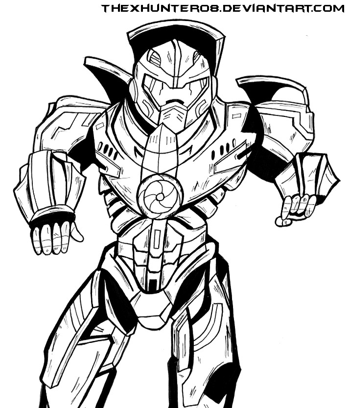 715x834 Pacific Rim Gipsy Danger Lineart By Thexhunter08