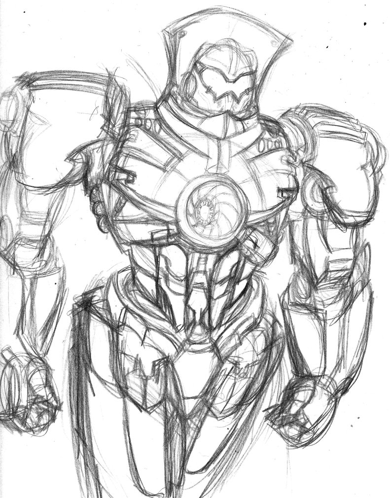 791x1010 Picture A Day 231 Gypsy Danger Sketch! By Constantscribbles
