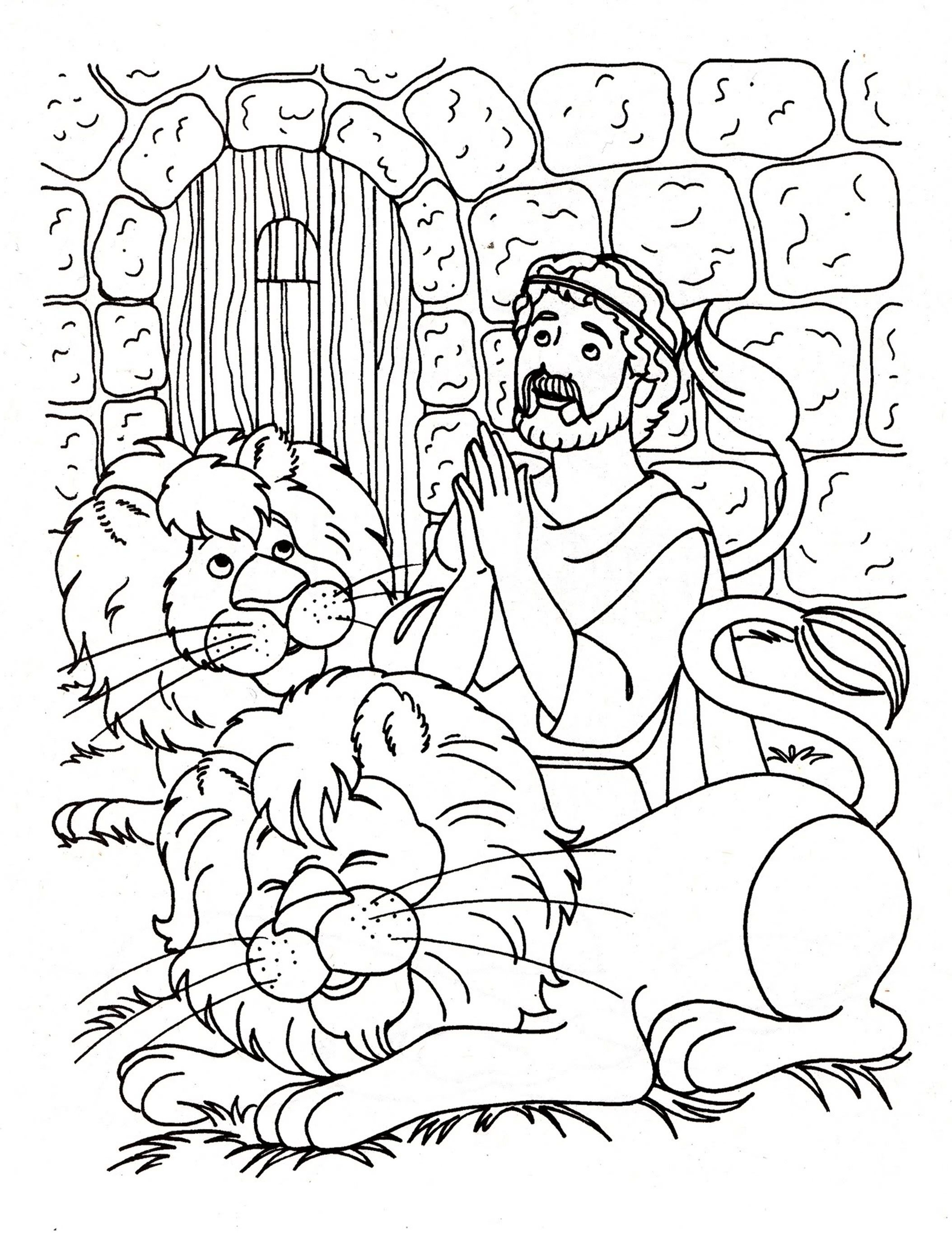 2108x2729 Daniel And The Lions Den Coloring Page Kids Coloring Pages