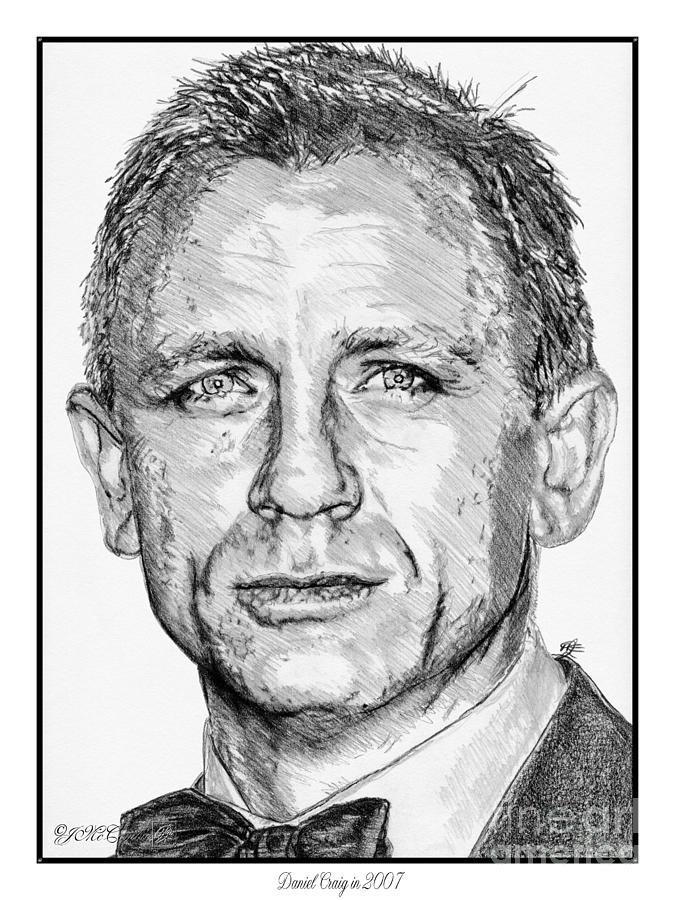675x900 Daniel Craig In 2007 Drawing By J Mccombie
