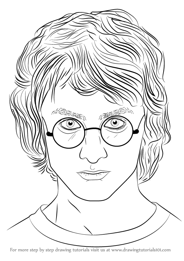 596x843 Learn How To Draw Daniel Radcliffe (Celebrities) Step By Step
