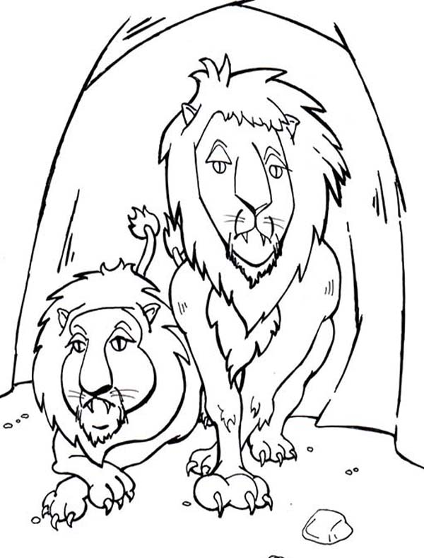 600x788 The Lions In Daniel In Daniel And The Lions Den Story Coloring