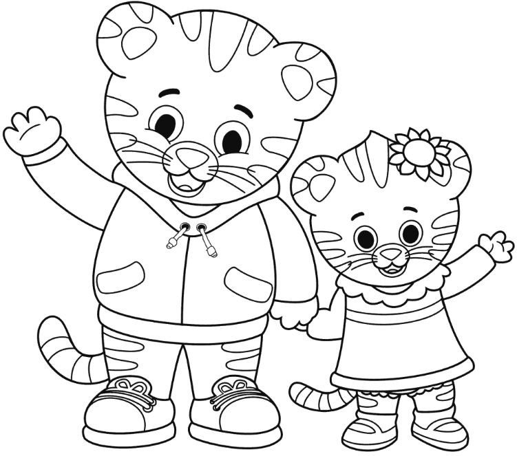 751x663 Coloring Page Daniel Tiger Drawing Board Weekly