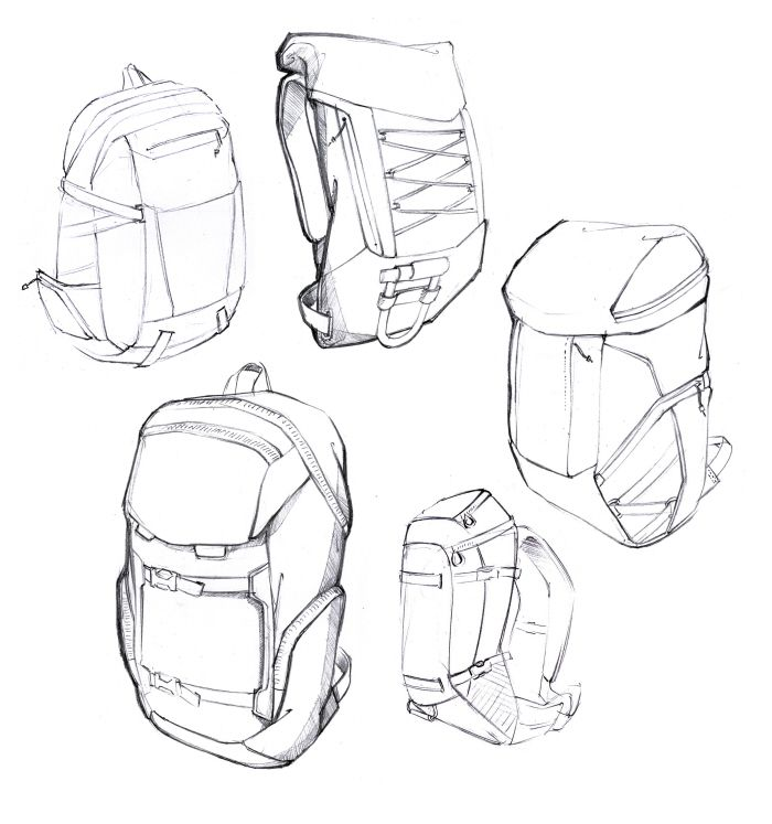 700x747 Backpack Sketches By Daniel Valsesia