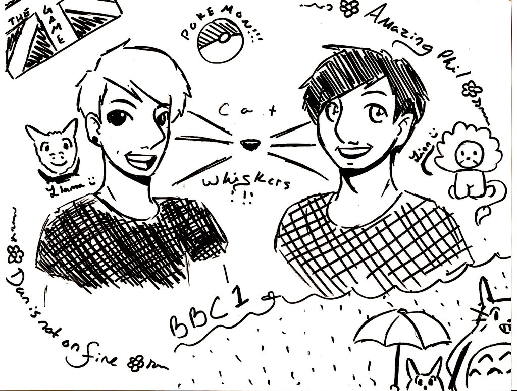 1024x776 Dan And Phil Sharpie Sketch By Dare To Play
