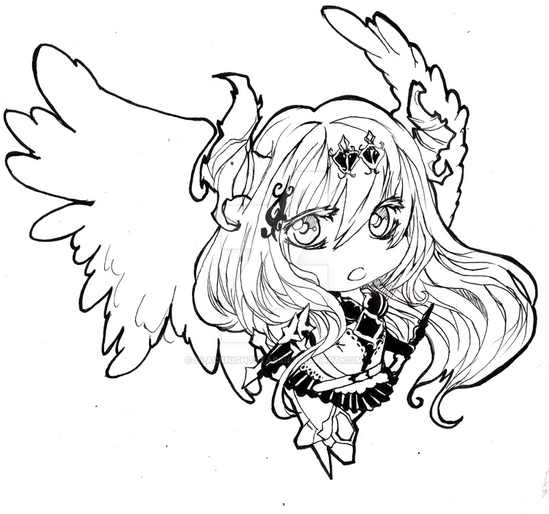 800x750 Dark Angel Olivia [Legend Of Bahamut] By Blacknightstar