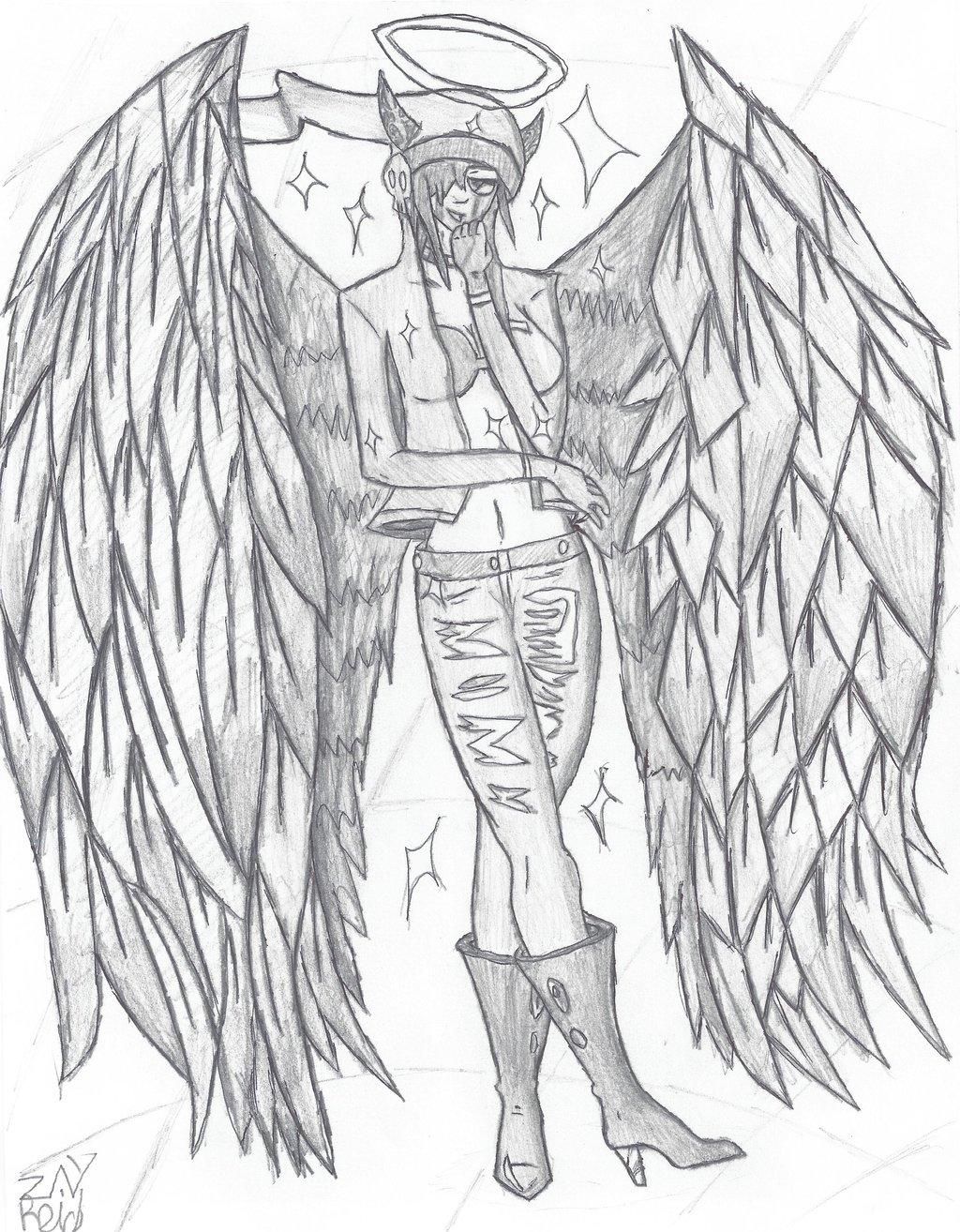1024x1314 Dark Angel Of Dubstep By Zayreid