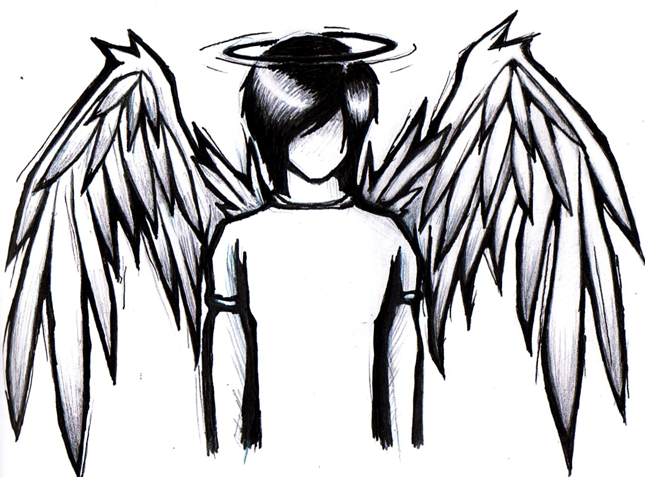 1282x949 Emo Angel Coloring Pages