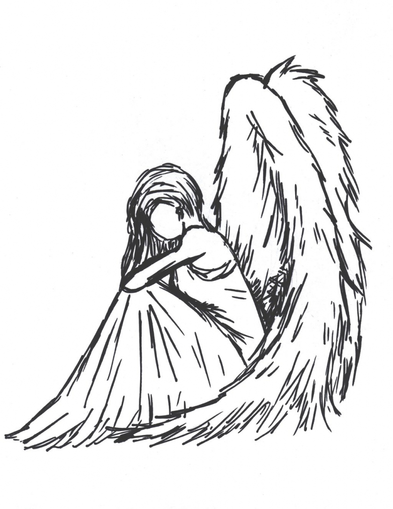 791x1024 Angel Anime Drawing Draw Anime Angel Images About Angels