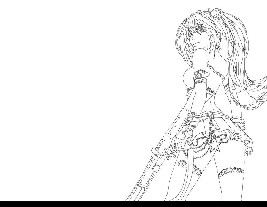 900x700 Miku By Dark Angel Rin
