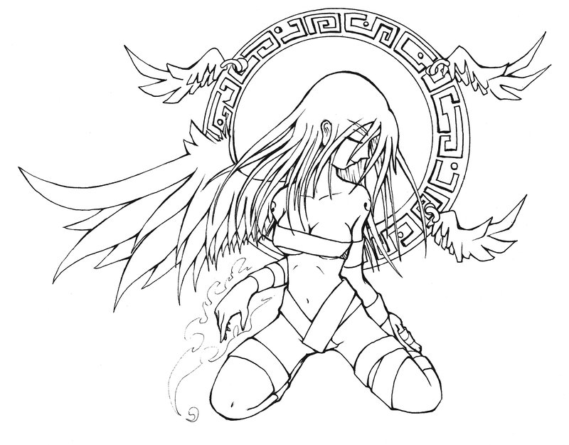 800x625 Random Angel Girl By Yairlugo