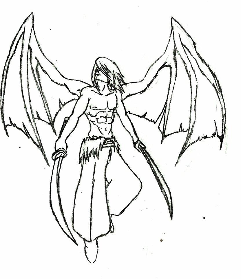 832x961 Dark Angel Sketch By Nartox101