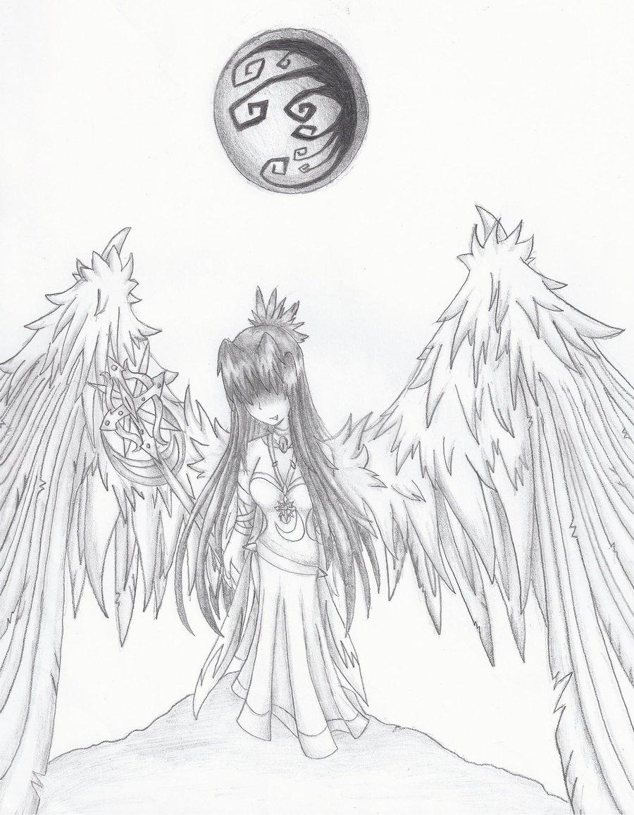 900x1157 Angel Of Darkness By Lapinleonin