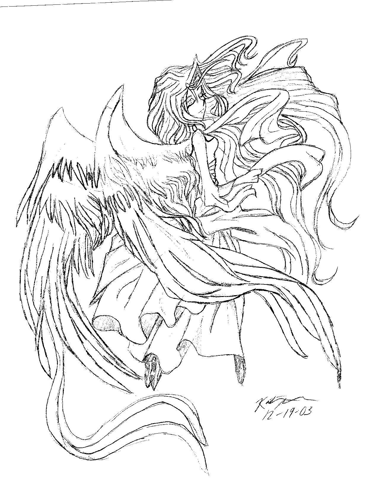 1275x1640 Anime Angel By Nanashi Dark Child