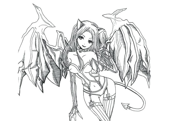 700x500 Best Gothic Coloring Pages Of Dark Angel Free Wings View Larger