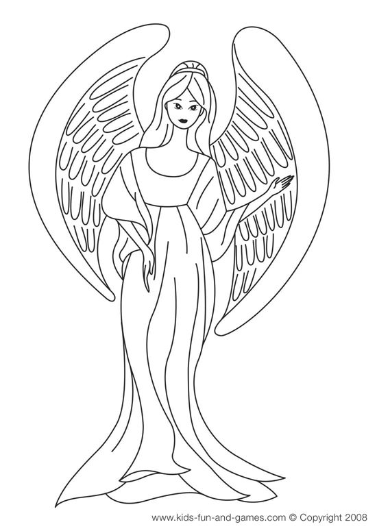 550x775 Dark Angel Coloring Pages