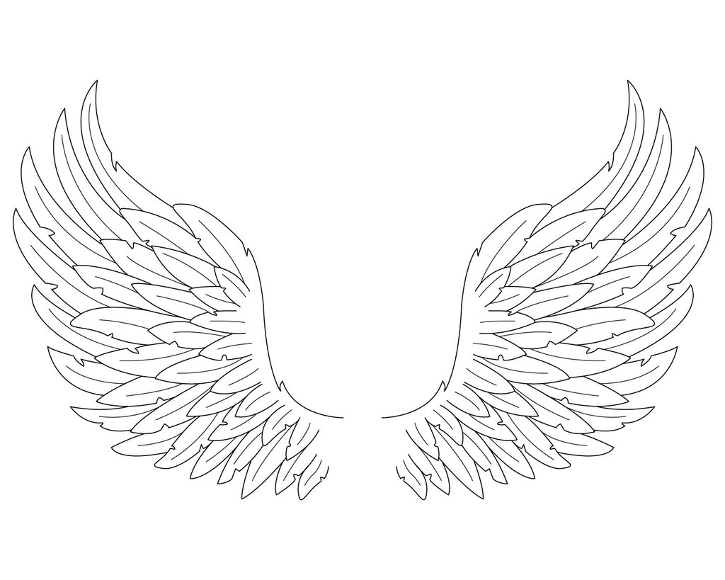 1024x819 Pictures Simple Drawings Of Angel Wings,
