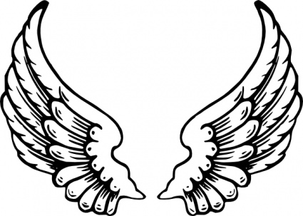 425x303 Angel Wing Tattoo Vector