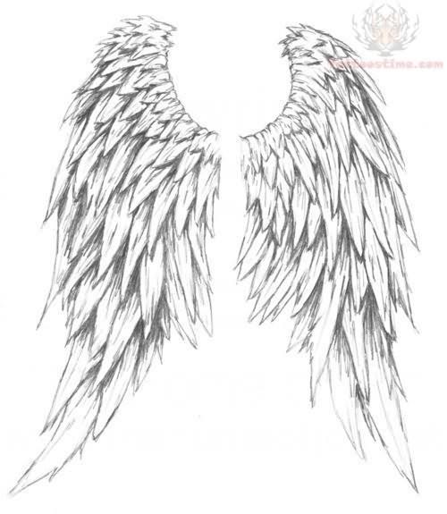 500x575 Angel Wings Tattoos Design