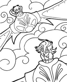 236x288 Coloring Colouring Faerieland Faerie Aisha Clouds Rainbow Flying