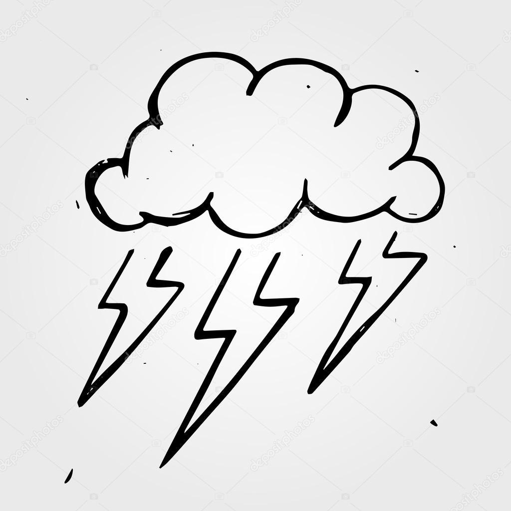 1024x1024 Drawn Cloud Storm