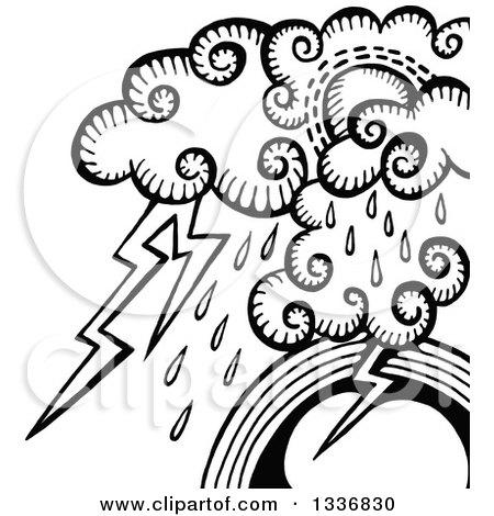 450x470 Royalty Free (Rf) Lightning Storm Clipart, Illustrations, Vector