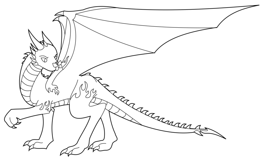 900x545 Fire Dragon Outline By Lady Macduff