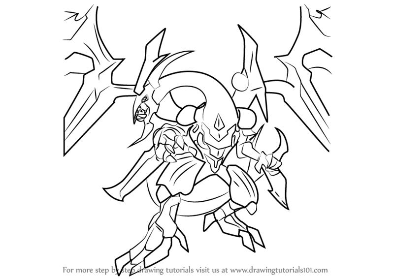 800x567 Learn How To Draw Dark Rebellion Xyz Dragon From Yu Gi Oh