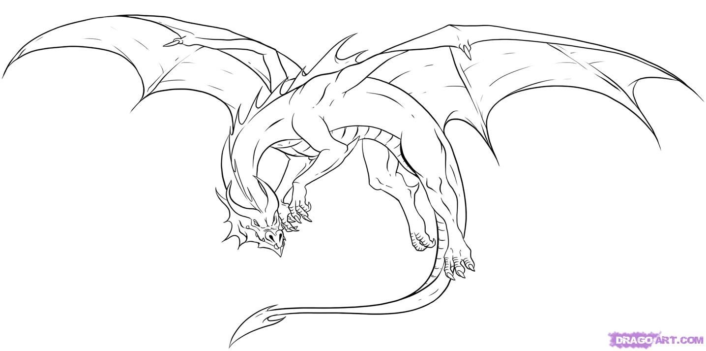1436x713 Awesome Drawings Of Dragons Drawing Dragons, Step By Step